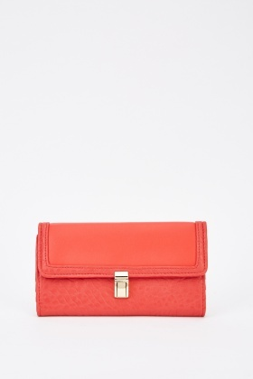 Faux Leather Classic Purse