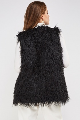 Teddy Bear Faux Fur Gilet