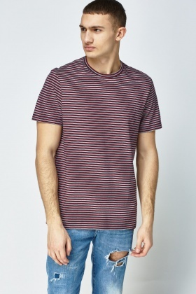 Burgundy Striped T-Shirt