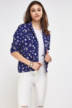 Floral Print Light Weight Cardigan