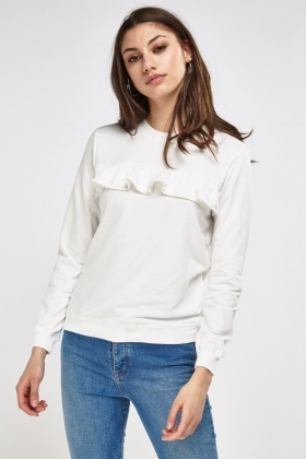 Frilled Front Sweater