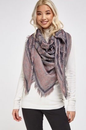 Geo Knitted Scarf