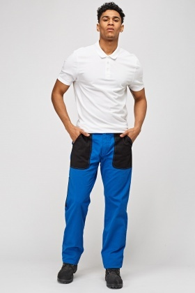 Contrast Large Front Pocket Trousers