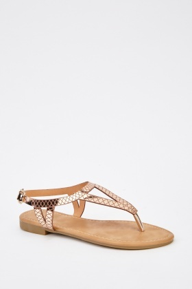 Metallic Detailed Sandals