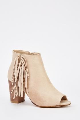 Suedette Open Toe Ankle Boots - Just £5 2e67dfcdc9c4