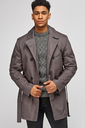 Dark Grey Double Breasted Jacket