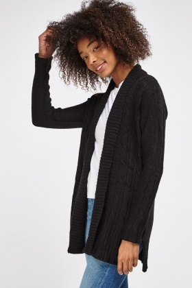 Cable Loose Knit Cardigan