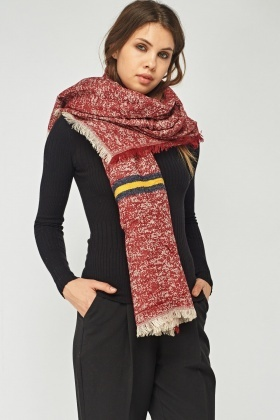 Speckled Mixed Knit Scarf