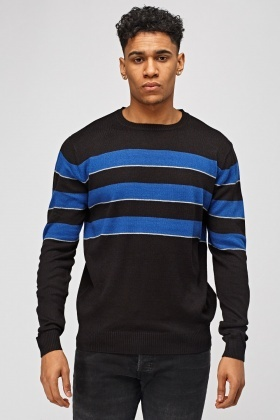 Thin Knitted Striped Sweater