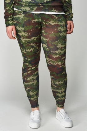 Camouflage Top And Leggings Lounge Set