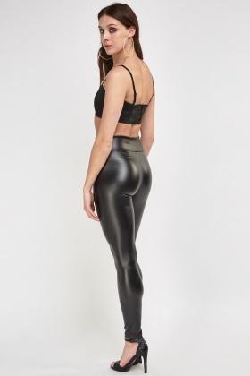 c536b0c3d1e High Waist Faux Leather Leggings