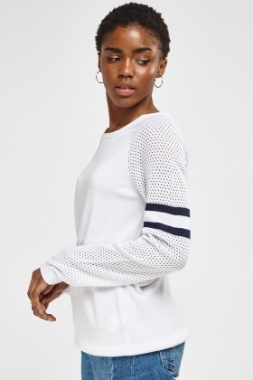 Loose Knit Sleeve Sweater