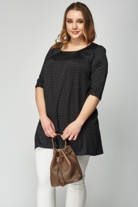 Metallic Insert Knitted Top