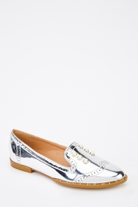 PVC Embellished Loafers