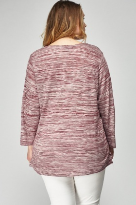 Speckled Long Sleeve Top