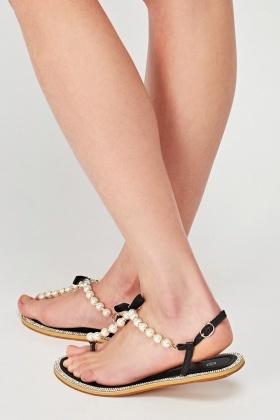 98ddef550a8 Faux Pearl Flip Flop Sandals - Just £5