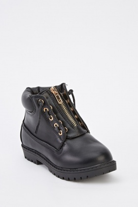 Kids Unisex Faux Leather Boots
