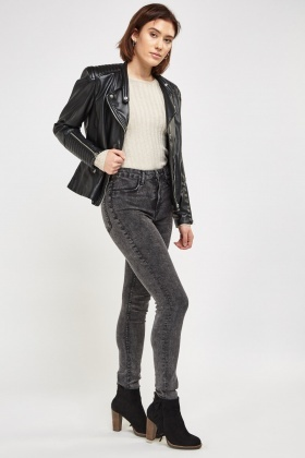Charcoal Washed Skinny Jeans
