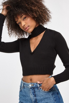 Choker Knitted Crop Jumper