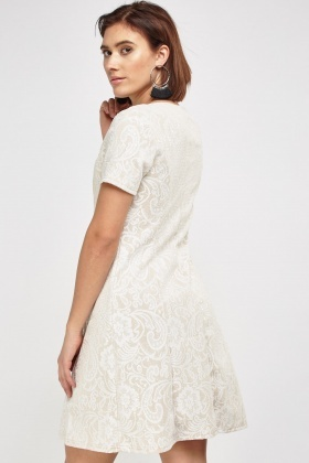 Contrast Lace Party Dress