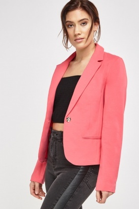 Fitted Lapel Front Blazer