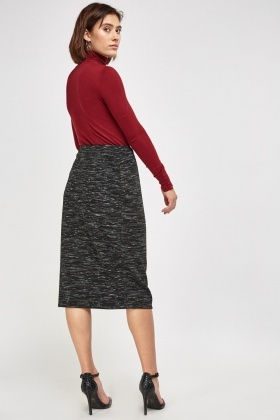 Speckled Midi Pencil Skirt