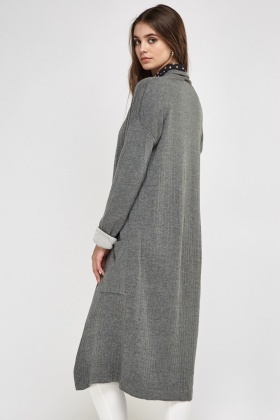 Long Line Open Front Cardigan