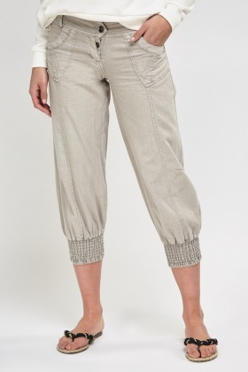 Low Waist Cropped Pants