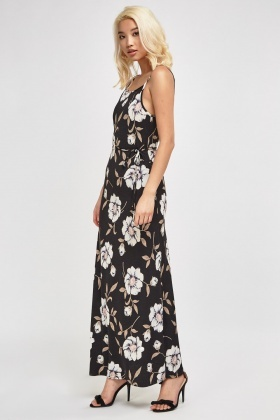 8a4dc88b37449 Flower Print Halter Neck Maxi Dress - Just £5