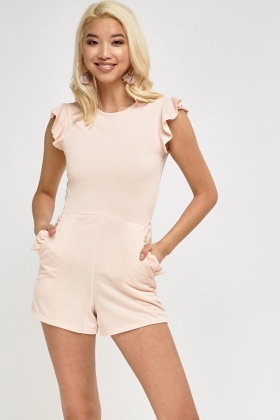 Frilled Trim Playsuit