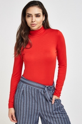Basic Roll Neck Top