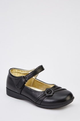 Dolly Black Girls School Shoes