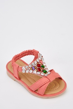Embellished Front Kids Sandals