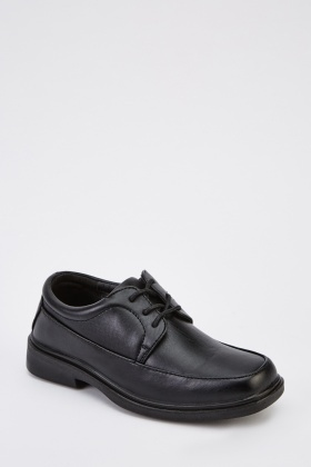 Faux Leather Junior Smart Shoes