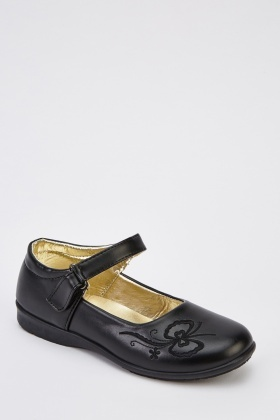 Faux Leather Smart Girls Shoes