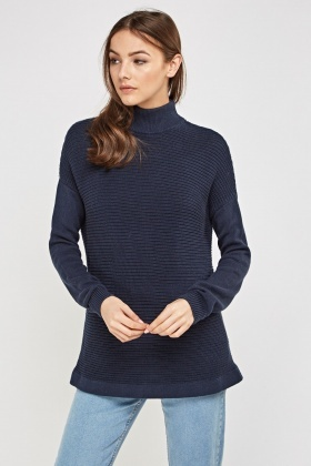 Ribbed Contrast  Jumper