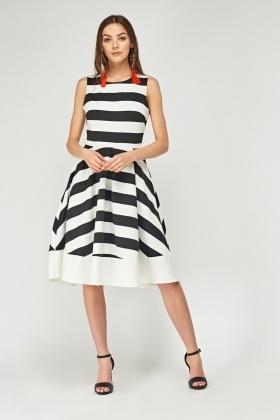 27e68b9e8da4 Mono Striped Skater Dress - Just £5