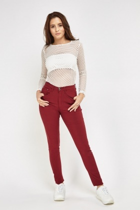 Slim Fit Wine Jeans