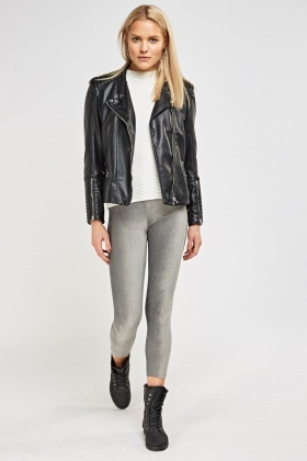 Velveteen Grey Leggings