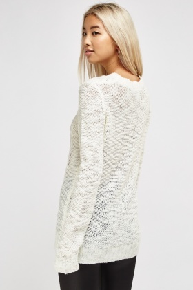 Cable Knit Thin Sweater