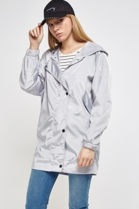Detached Hooded Raincoat