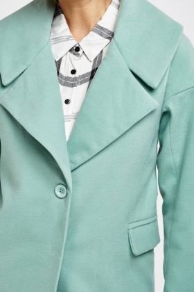 Mint Lapel Front Coat