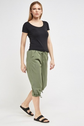 Plain Cropped Trousers