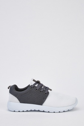 Contrast Lace Up Trainers