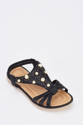 Faux Pearl Girls Sandals
