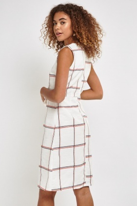 Checked Midi Dress