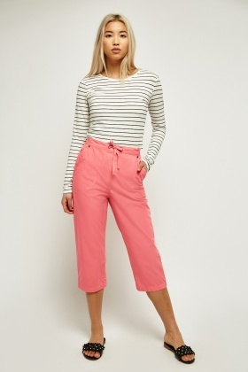 Cropped Light Weight Pants