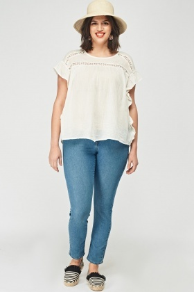 Crotchet Frilled Side Top