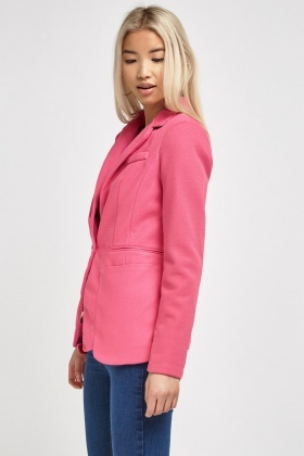 Lapel Front Fitted Blazer