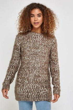 Speckled Mix Knit Sweater